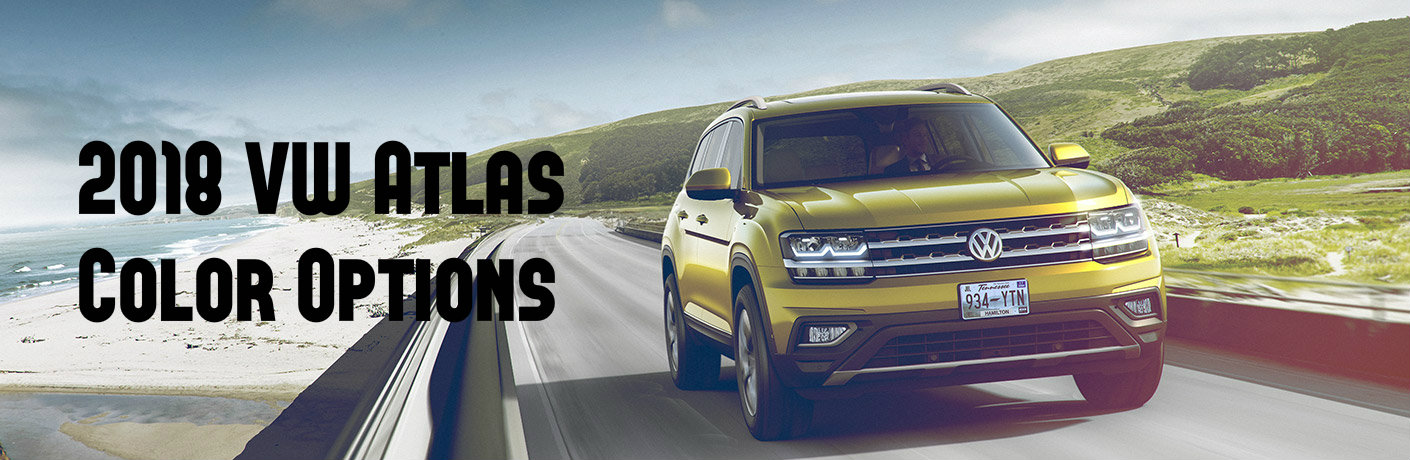 Which Colors is the 2018 VW Atlas Available in?