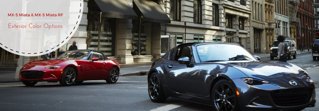 What Colors Are the 2017 MX-5 Miata and 2017 MX-5 Miata RF Available in?