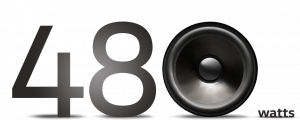 """The number 480 with a speaker image as the """"0"""""""