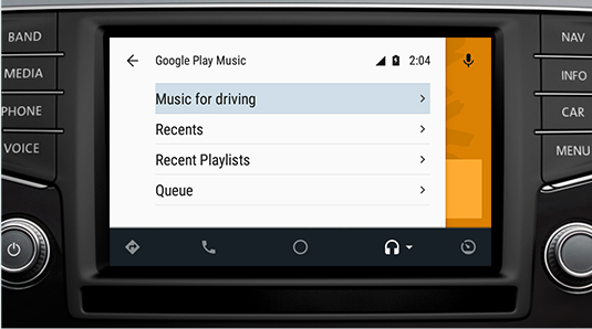 Android Auto Music - Hall Cars