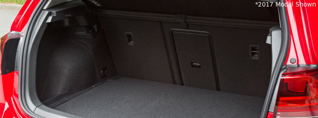 2018 VW Golf cargo space