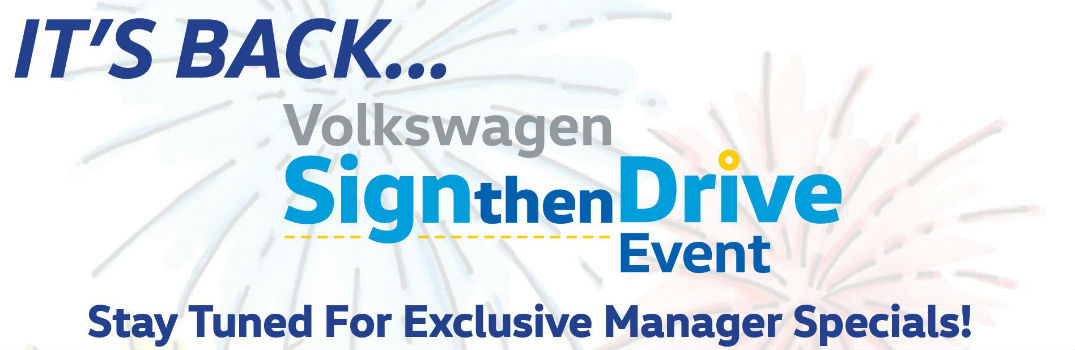 banner for Volkswagen Sign and Drive Event
