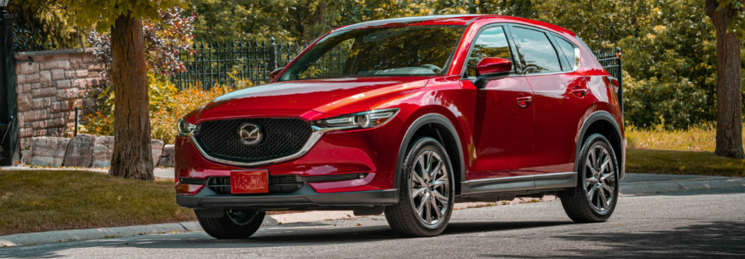 2020 Mazda CX-5 Signature parked near curb
