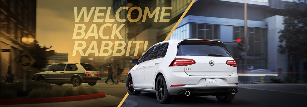 "2019 Golf GTI Rabbit ""Welcome Back"" banner"