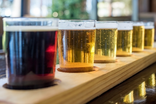 5 beers in a sampler