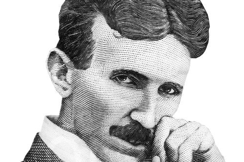Nikola Tesla artistic portrai