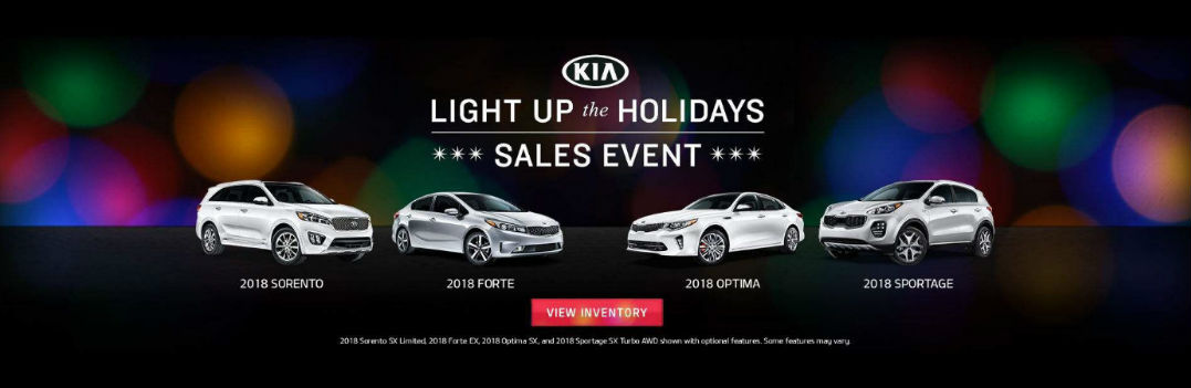 Kia sale Light Up the Holidays with 2018 Forte Optima Sportage and Sorento