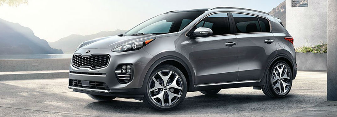 2018 Kia Sportage parked showing side view