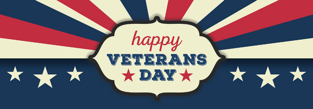 happy veterans day sign on sepia flag background