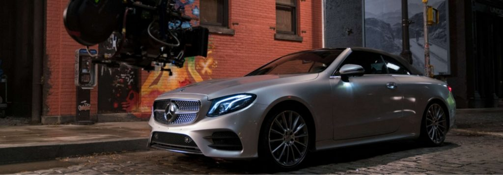 Go behind the scenes of 39 justice league 39 with mercedes benz for Justice league mercedes benz