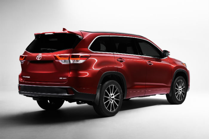 2017 Toyota Highlander Exterior Salsa Red Peal Rear Don Jacobs Toyota