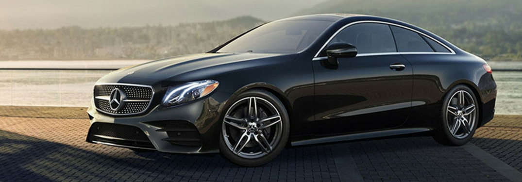 2018 mercedes-benz e-class coupe in obsidian black metallic