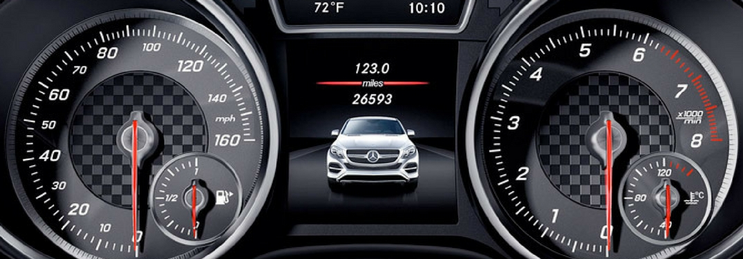 mercedes-benz instrument digital display cluster with speedometer
