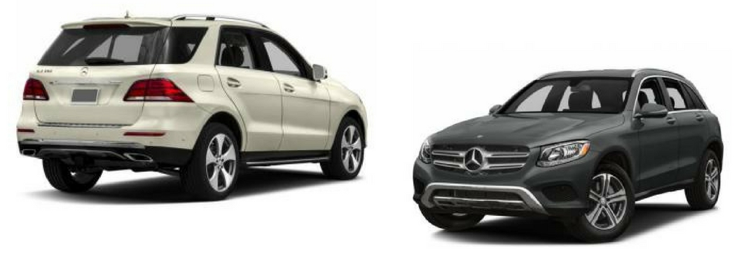 2018 mercedes-benz glc 300 and gle 350 suv side-by-side