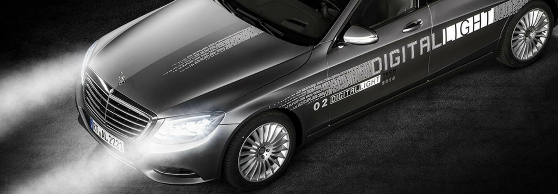 mercedes-benz model with digital light hd headlamps