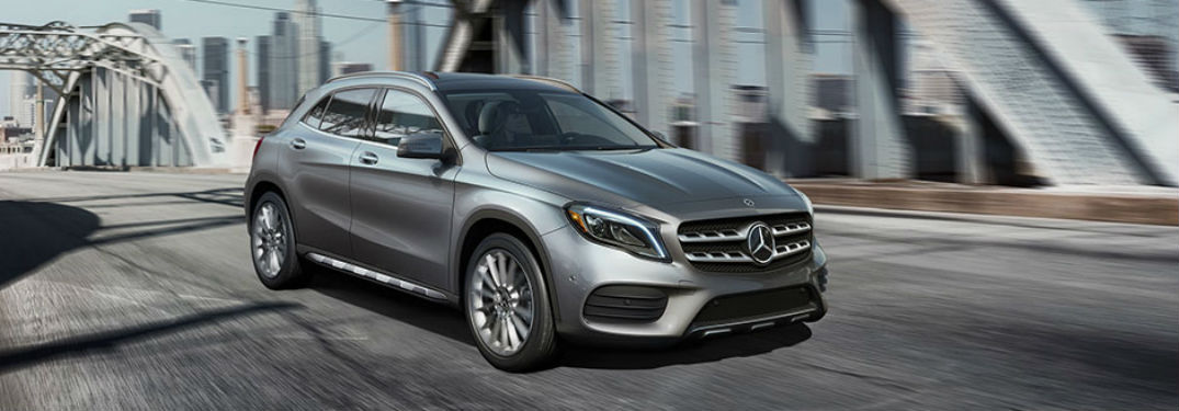 2018 mercedes-benz gla suv full view driving