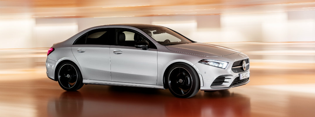 2019 mercedes-benz sedan full view parked on display