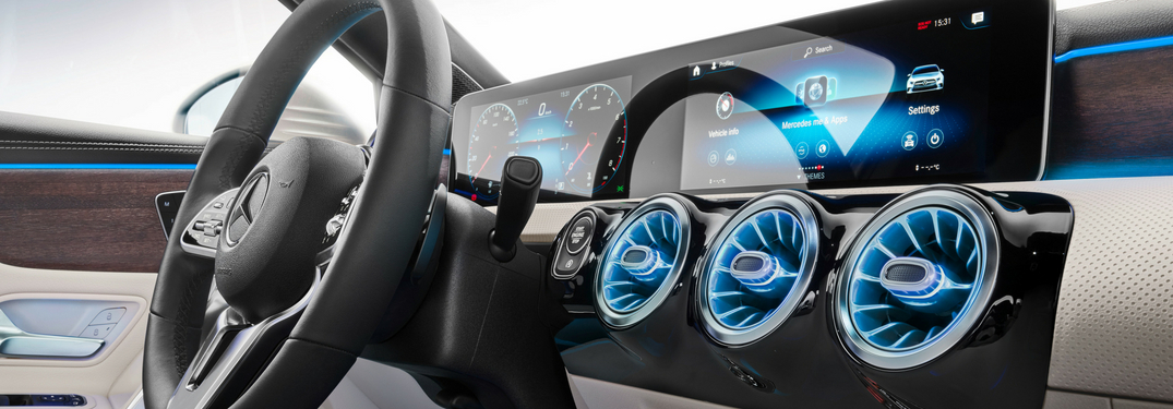 detail of the new mercedes-benz user experience mbux infotainment system