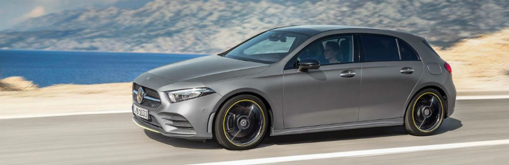 2019 mercedes-benz a-class hatchback drivnig by water