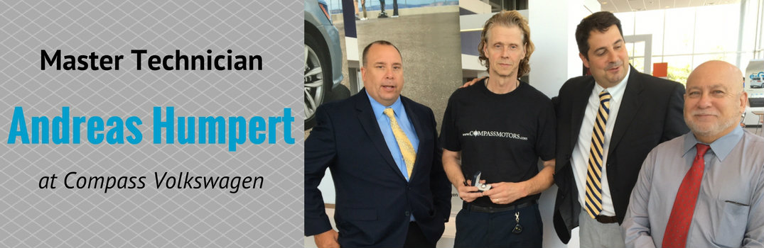 Master technician andreas humpert at compass volkswagen for Compass motors middletown ny 10940