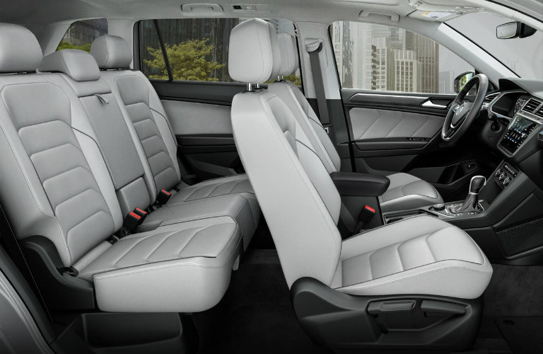 First And Second Rows Of Seating In 2018 Volkswagen Tiguan