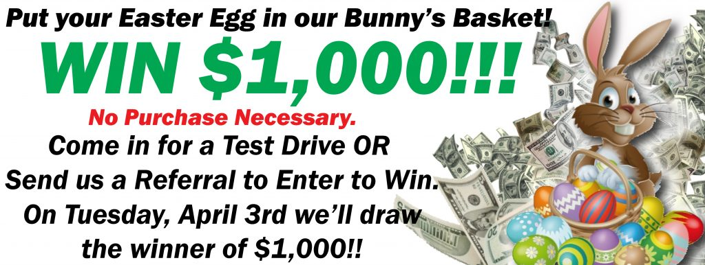 NO PURCHASE NECESSARY! WIN $1,000
