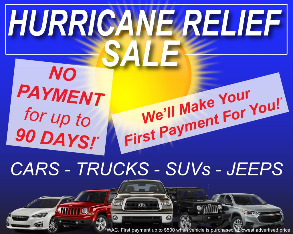 HURRICANE RELIEF SALE