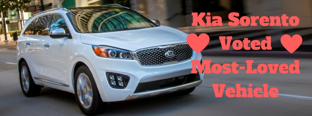 Kia Sorento Voted Most-Loved Vehicle