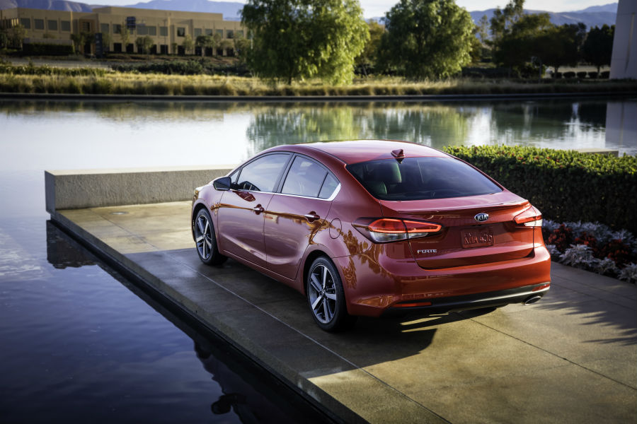 The 2017 Kia Forte has a lease price under $80 per month