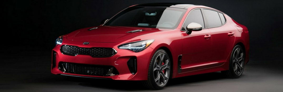 2018 Kia Stinger parked in dark.