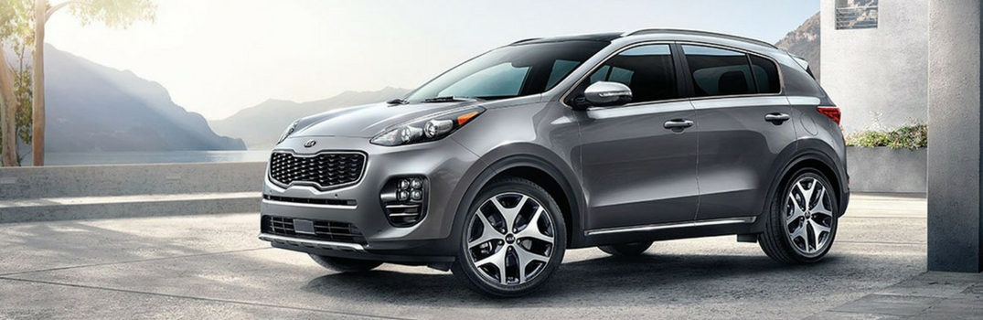 2018 Kia Sportage parked outside.