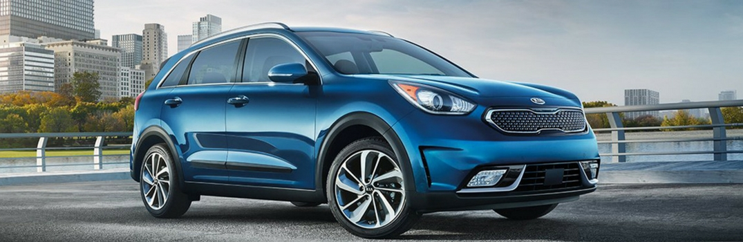 2018 Kia Niro parked near water