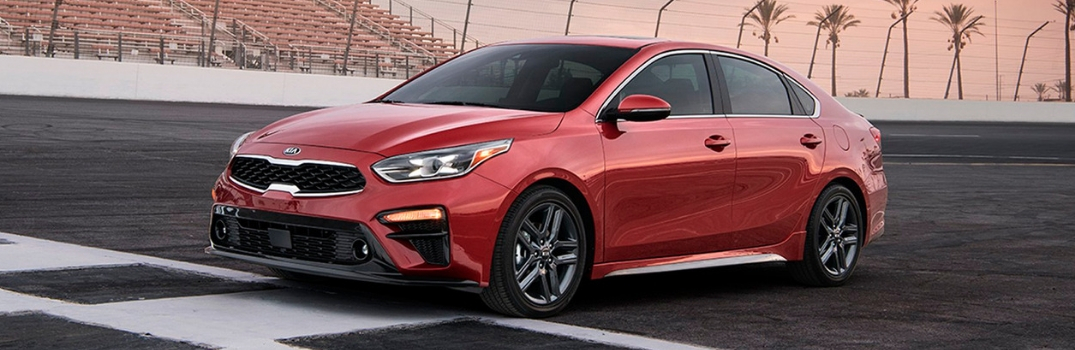 2019 Kia Forte on a race track