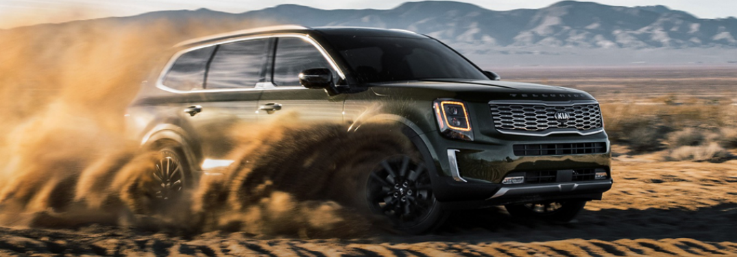 2020 Kia Telluride driving on sand