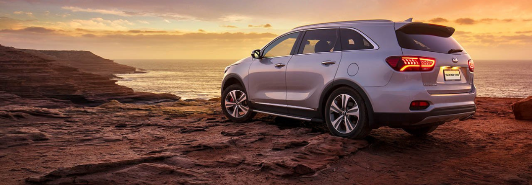 2019 Kia Sorento parked outside at sunset