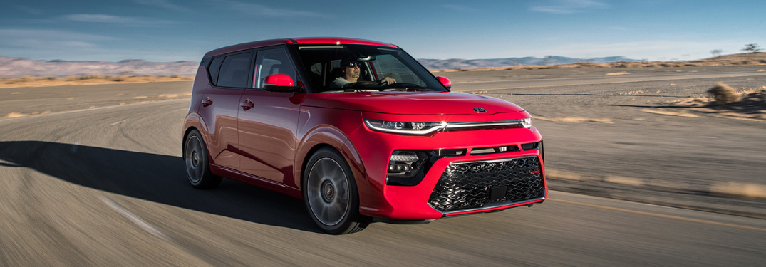 2020 Kia Soul driving outside