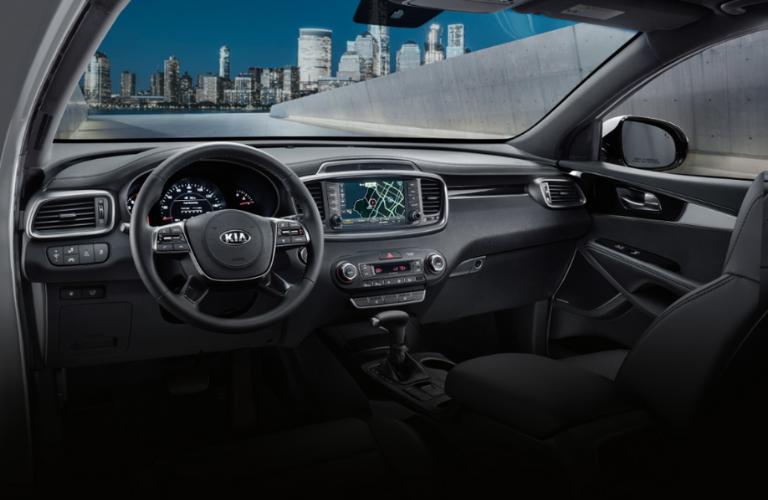 2020 Kia Sorento dash and wheel view
