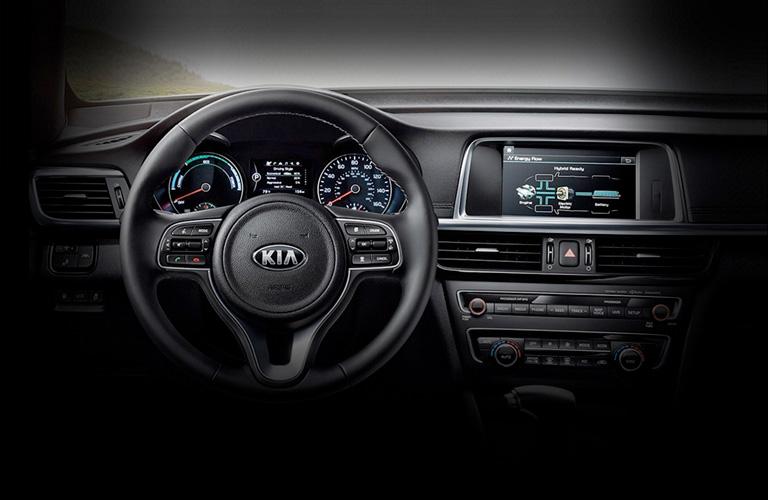 2020 Kia Optima dash and wheel view