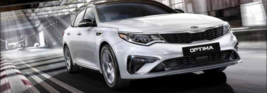 2020 Kia Optima front view while driving on road