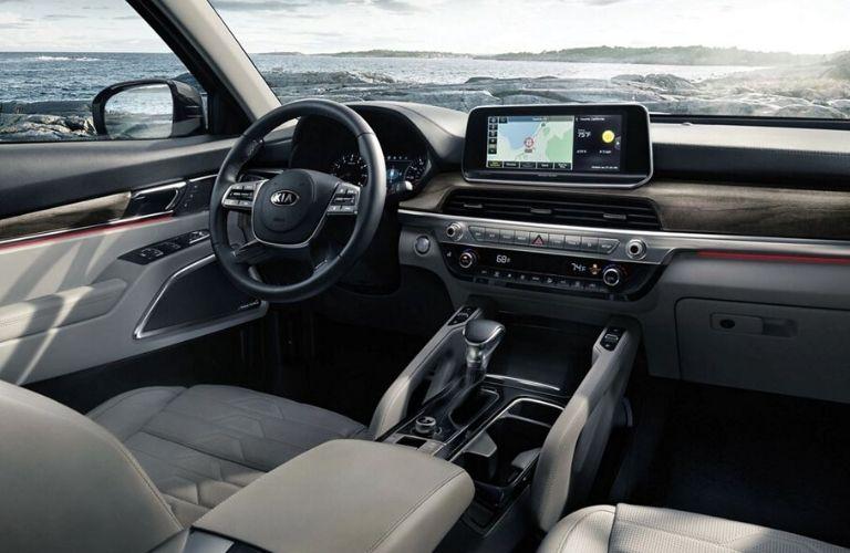 2020 Kia Telluride dash and wheel view