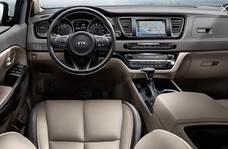 2021 Kia Sedona dash and wheel view