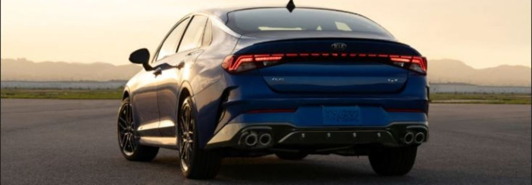 2021 Kia K5 parked outside rear view