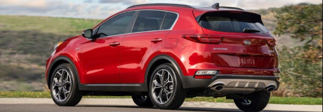 2021 Kia Sportage parked outsdie rear view exterior