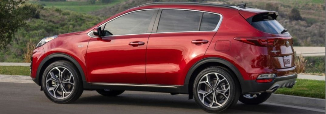 2021 Kia Sportage parked outside side view