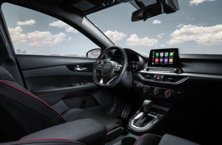 2021 Kia Forte interior dash and wheel