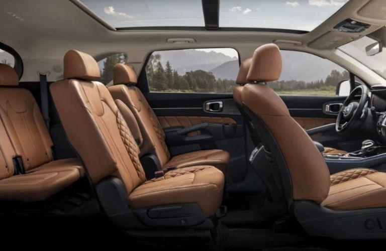 2021 Kia Sorento seats side view