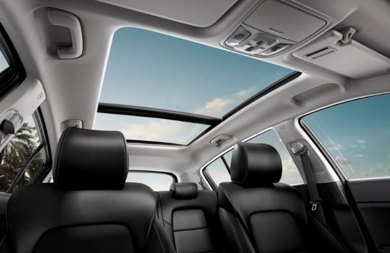 2022 Kia Sportage interior sunroof and seating