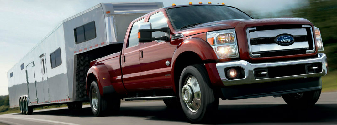 Ford Super Duty trucks can tow over 10,000 pounds.