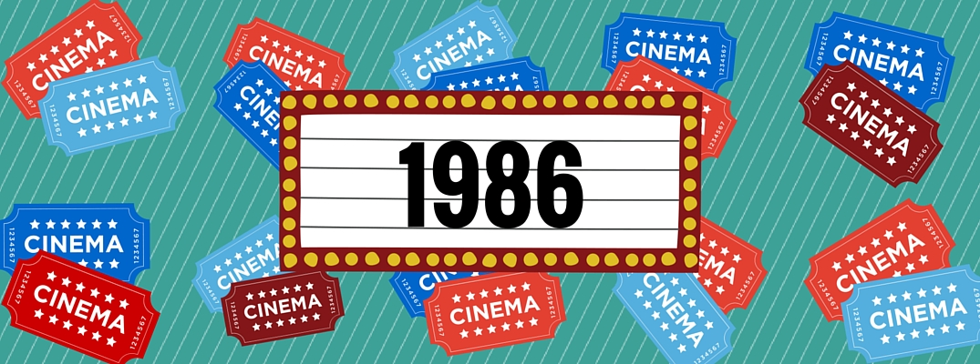 A 1986 marquee illustration including tickets to the cinema