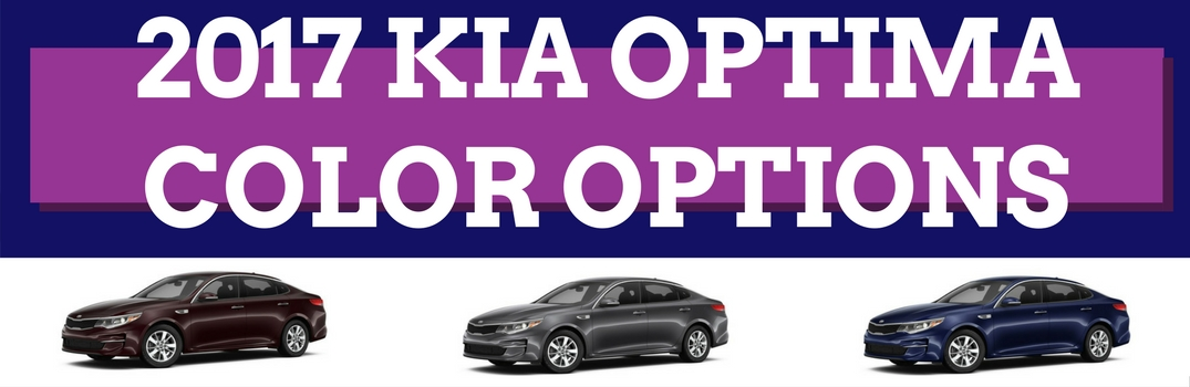 What Colors Are Available for the 2017 Kia Optima?